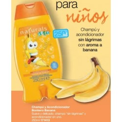 Champú y acondicionador Bonkers Banana Avon naturals Kids