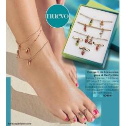 Conjunto de accesorios para el pie Cynthia Avon