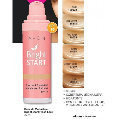 Base de Maquillaje Bright Start Fresh Look Avon