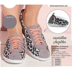 Zapatillas plegables de deporte Leopard Avon Fashion