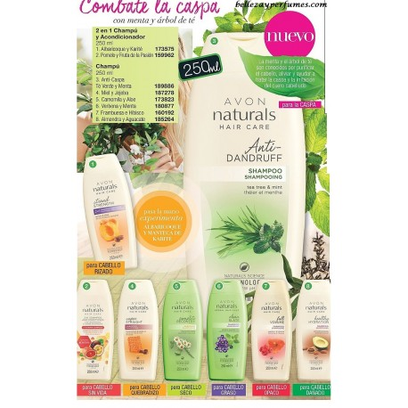 Champús y Acondicionadores Avon Naturals Hair Care 250ml