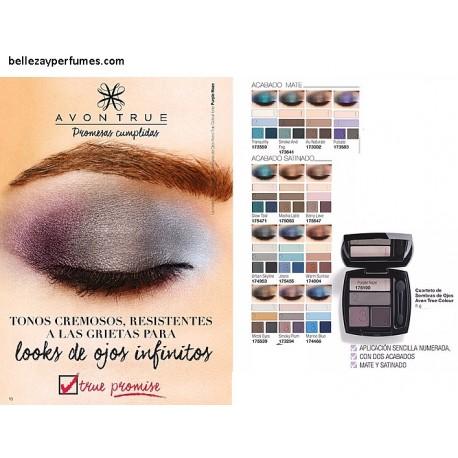 Cuarteto de sombras de ojos True Colour Avon