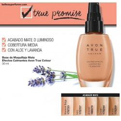 Base de maquillaje Mate Efecto calmante Avon True colour