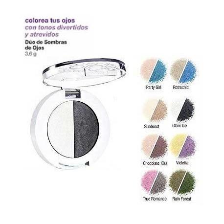 Dúo de sombras de Ojos Avon ColorTrend