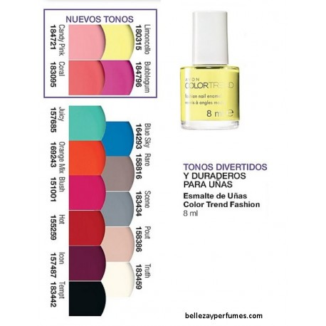 Esmalte de Uñas Avon Color Trend Fashion