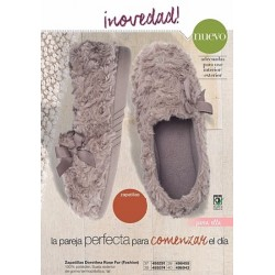 Zapatillas Dorothea Rose Fur Fashion