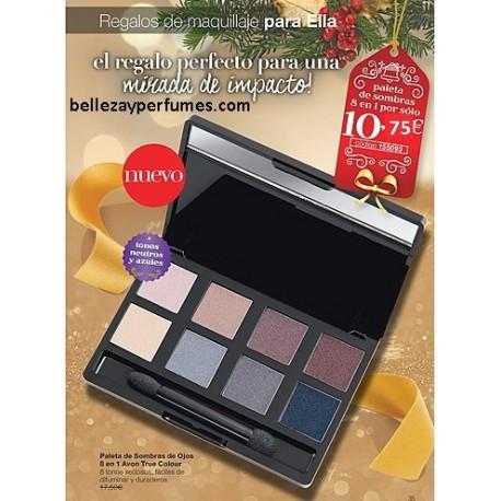 Paleta de sombras de ojos 8 en 1 Avon True Colour