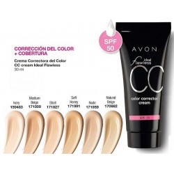 Crema Correctora del Color CC cream Avon Ideal Flawless