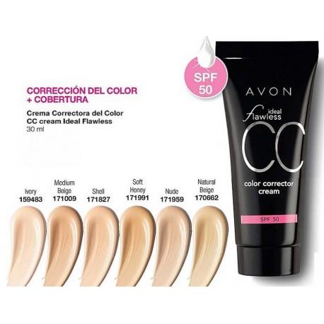 Crema Correctora del Color CC cream Avon Ideal Flawless