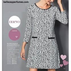 Vestido Leopard Jacquard