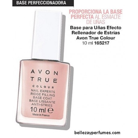 Base para uñas Efecto rellenador de estrías Avon True Colour