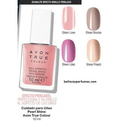 Cuidado de Uñas con brillo Pearl Shine Avon True colour