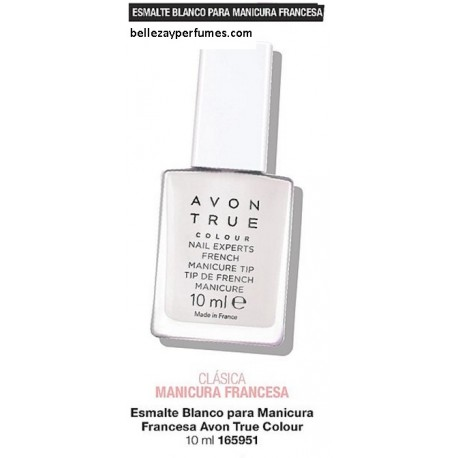 Esmalte blanco para manicura francesa Avon True Colour