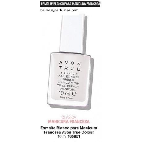 Esmalte blanco para manicura francesa Avon True Colour