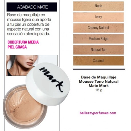 Base de maquillaje Mousse Mate Tono Natural Mark
