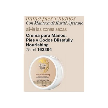 Crema para manos, pies y codos Blissfully Nourishing Planet Spa