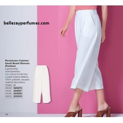Pantalones Culottes South Beach Blancos Fashion