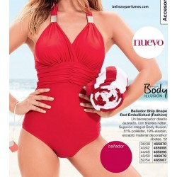 Bañador Ship Shape Red Embellished Fashion