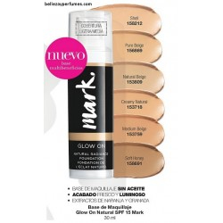 Base de maquillaje Glow On natural SPF15 Mark