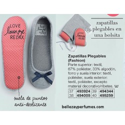 Zapatillas plegables