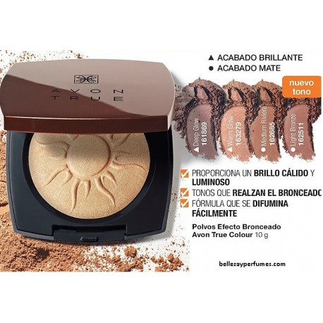 Polvos efecto bronceado Avon True Colour