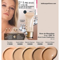 Base de maquillaje 2 en 1 SPF15 Luxe Cashmere Avon