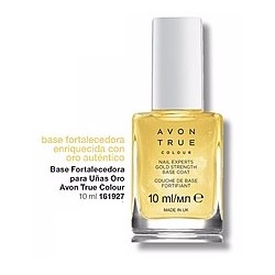 Base Fortalecedora para uñas oro Avon True Colour