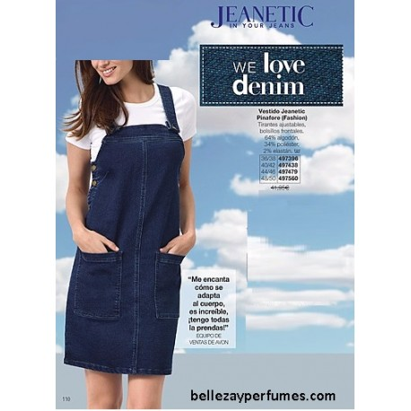 Vestido Jeanetic Pinafore