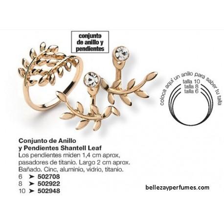 Conjunto de Anillo y Pendientes Shantell Leaf