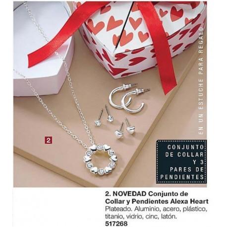 Conjunto de Collar y Pendientes Alexa Heart