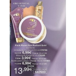 Pack Radiant Gold Planet Spa