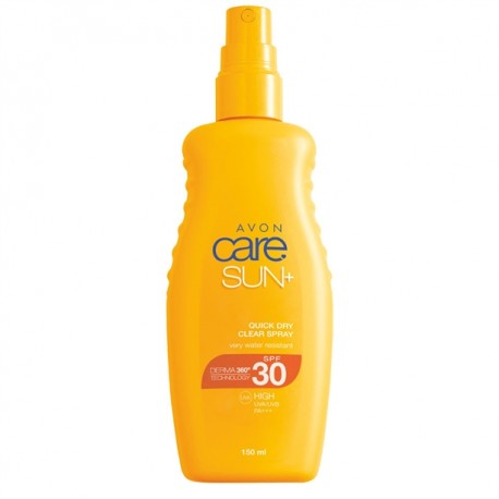 Spray Solar Transparente Secado Rápido SPF 30 Avon Care Sun