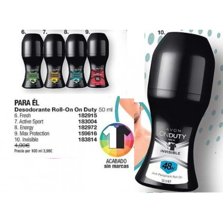 Desodorante Roll-on Avon On Duty