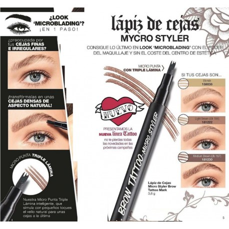Lápiz de Cejas Micro Styler Brow Tattoo Mark
