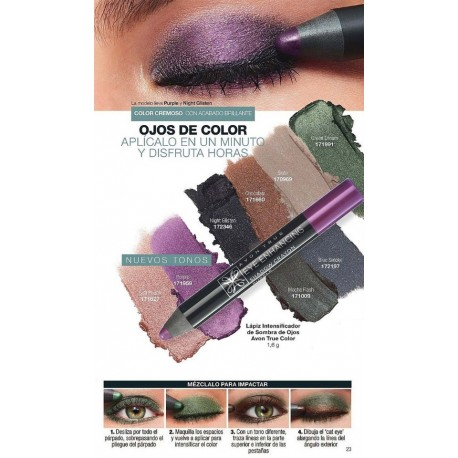 Lápiz Intensificador de Sombra de Ojos Avon True Color