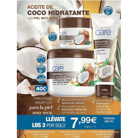 Pack Aceite de Coco Avon Care