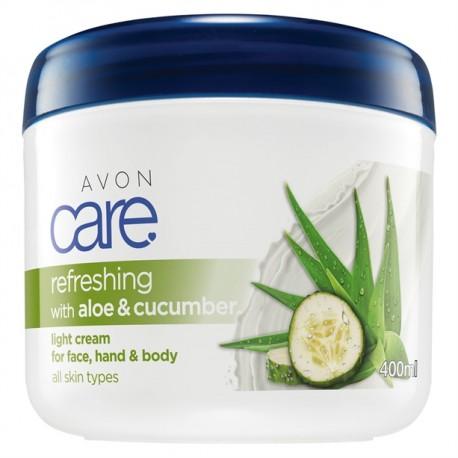 Crema Multiuso Refrescante Pepino y Aloe Avon Care 400ml