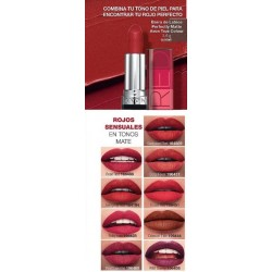 Barra de Labios Perfectly Matte Rojos Avon True Colour