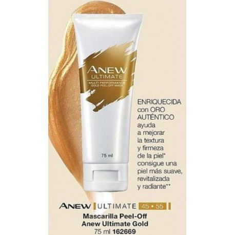Mascarilla Peel-Off Anew Ultimate Gold
