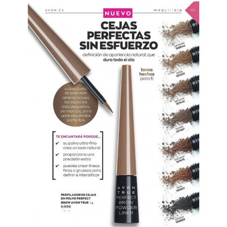 Perfilador de Cejas en Polvo Perfect Brow Avon True