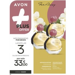 Oferta Plus 3x1 Far Away avon