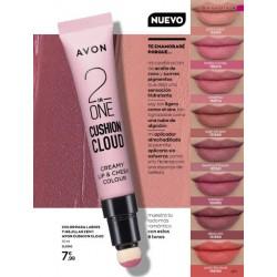 Color para Labios y Mejillas 2 en 1 Avon Cushion Cloud