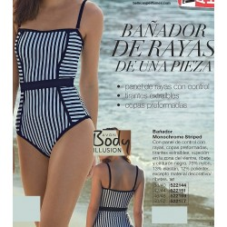 Bañador Monochrome Striped Avon