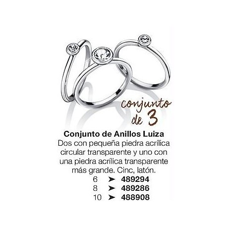 Conjunto de anillos Luiza Avon