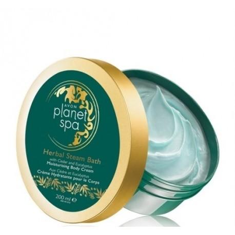 Crema corporal hidratante Herbal Steam Bath Avon planet spa
