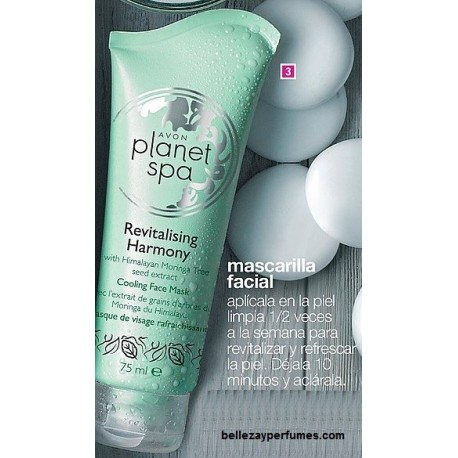 Mascarilla facial refrescante revitalising harmony Avon planet spa